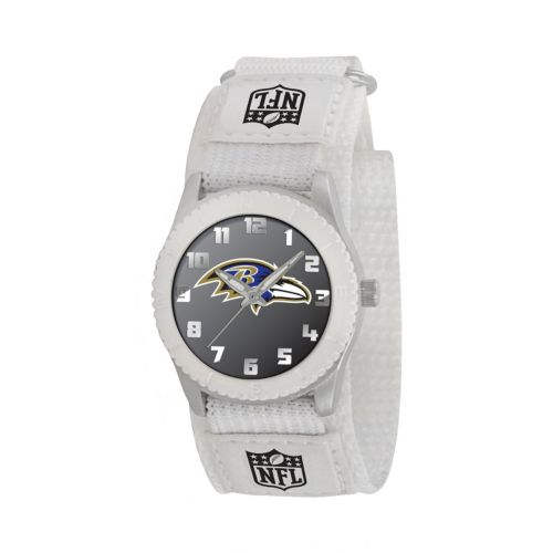 Game Time Rookie Series Baltimore Ravens Silver Tone Watch - NFL-ROW-BAL - Kids