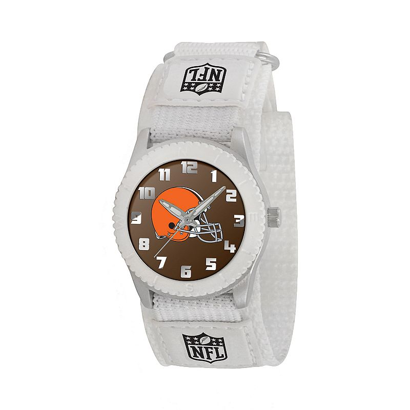 Game Time Rookie Series Cleveland Browns Silver Tone Watch - NFL-ROW-CLE - Kids