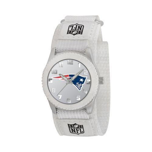 Game Time Rookie Series New England Patriots Silver Tone Watch - NFL-ROW-NE - Kids