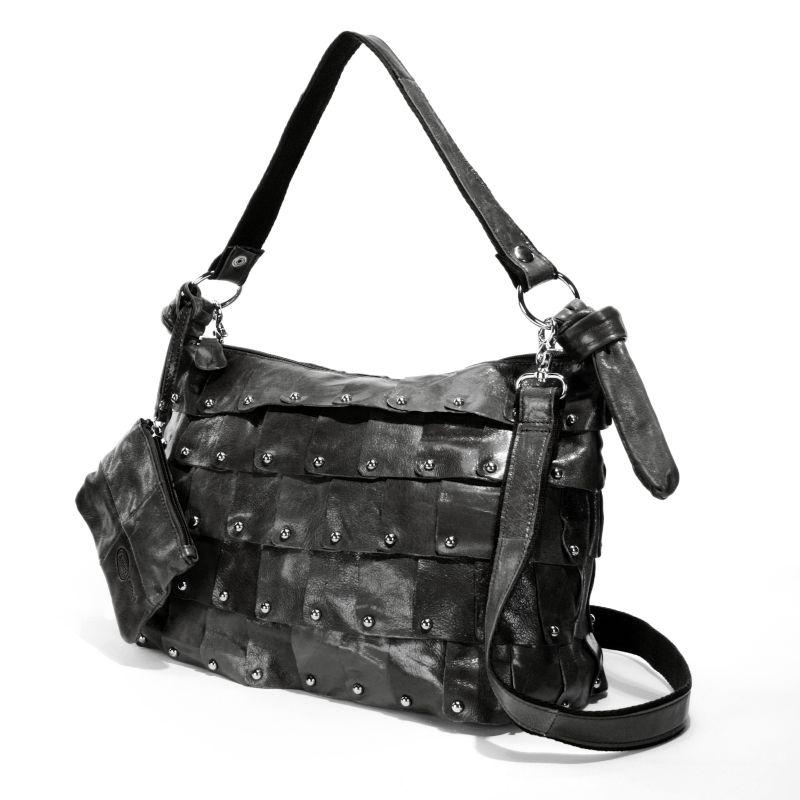 AmeriLeather Miao Leather Convertible Bucket Bag, Women's, Black