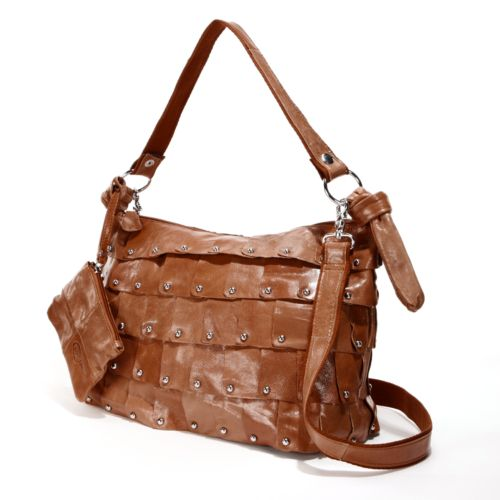 AmeriLeather Miao Leather Convertible Bucket Bag
