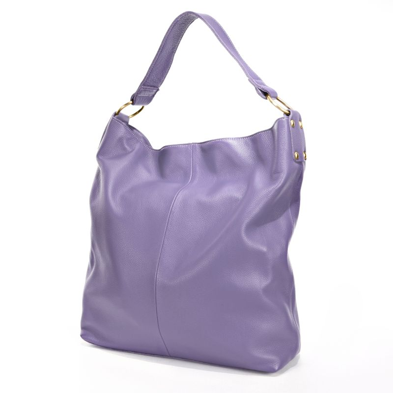 AmeriLeather Cynthia Leather Bucket Bag, Women's, Purple
