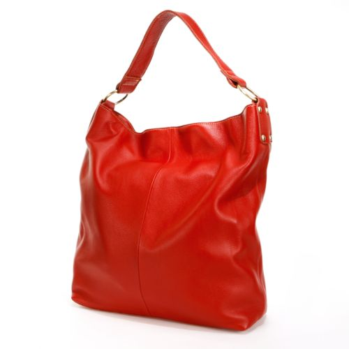 AmeriLeather Cynthia Leather Bucket Bag