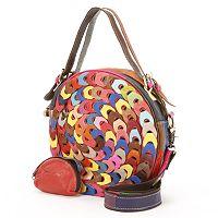 AmeriLeather Dream Catcher Convertible Leather Crossbody Bag