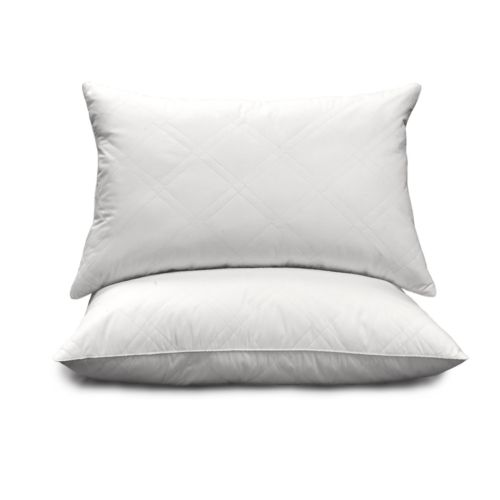 Royal Majesty 2-pk. 233-Thread Count Goose Feather and Down Quilted Egyptian Cotton Jumbo Pillows