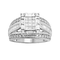 Diamond Engagement Ring in 10k White Gold (1 ct. T.W.) by