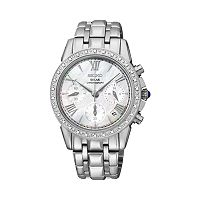 Seiko Women's Le Grand Sport Stainless Steel Solar Chronograph Watch - SSC893