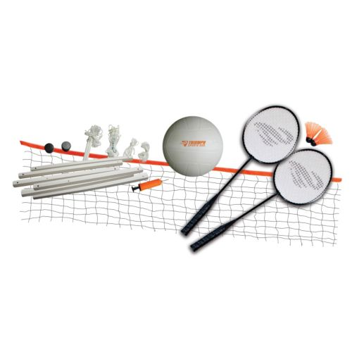 Triumph Sports USA Beginner Badminton and Volleyball Set