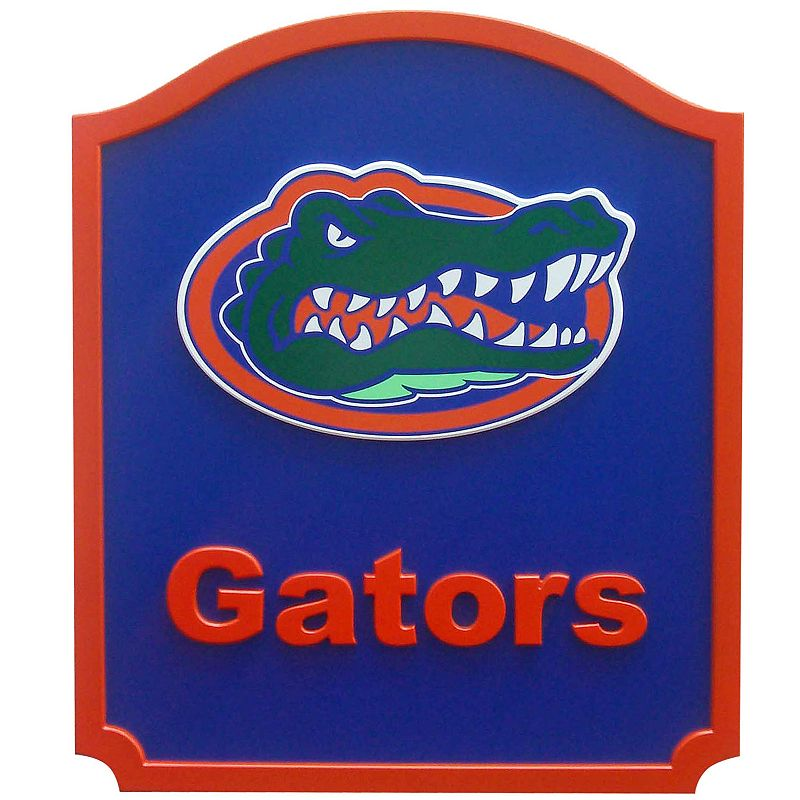 Florida Gators Carved Team Shield Wall Art