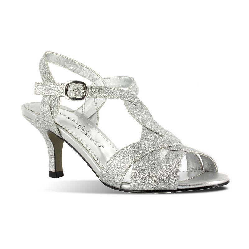 Easy Street Glamorous Women's Glitter Dress Sandals
