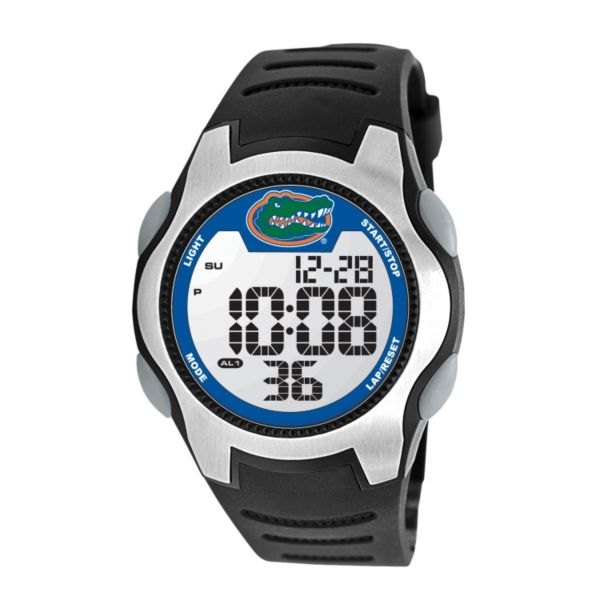 Game Time Training Camp Series Florida Gators Silver Tone Digital Chronograph Watch - COL-TRC-FLA - Men