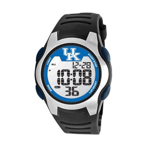 Game Time Training Camp Series Kentucky Wildcats Silver Tone Digital Chronograph Watch - COL-TRC-KEN - Men