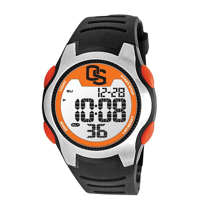 Game Time Training Camp Series Oregon State Beavers Silver Tone Digital Chronograph Watch - COL-TRC-ORS - Men
