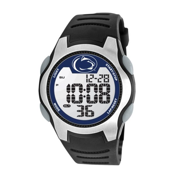 Game Time Training Camp Series Penn State Nittany Lions Silver Tone Digital Chronograph Watch - COL-TRC-PEN - Men