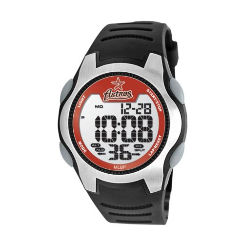 Game Time Training Camp Series Houston Astros Silver Tone Digital Chronograph Watch - MLB-TRC-HOU - Men