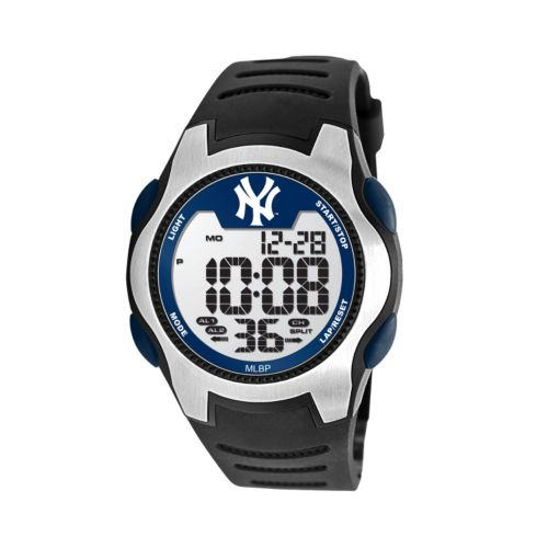Game Time Training Camp Series New York Yankees Silver Tone Digital Chronograph Watch - MLB-TRC-NY3 - Men