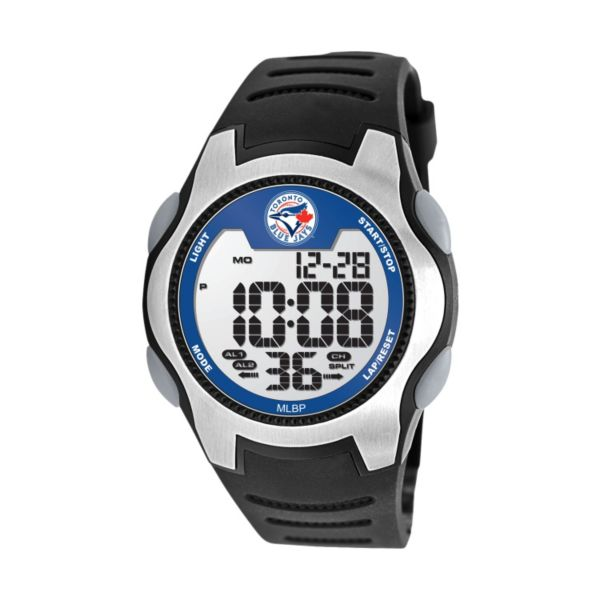 Game Time Training Camp Toronto Blue Jays Silver Tone Digital Chronograph Watch - MLB-TRC-TOR - Men