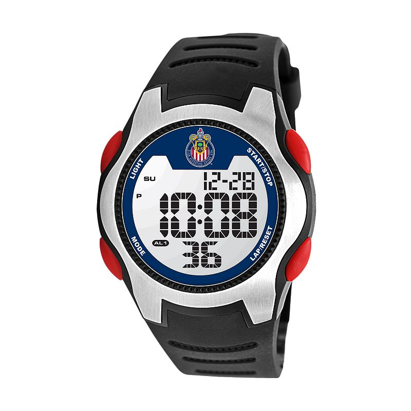 Game Time Training Camp Chivas USA Silver Tone Digital Chronograph Watch - MLS-TRC-CHV - Men
