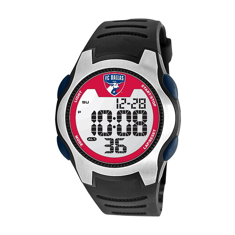 Game Time Training Camp FC Dallas Silver Tone Digital Chronograph Watch - MLS-TRC-DAL - Men