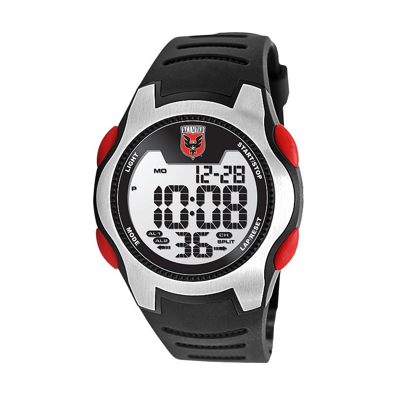 Game Time Training Camp D.C. United Silver Tone Digital Chronograph Watch - MLS-TRC-DC - Men