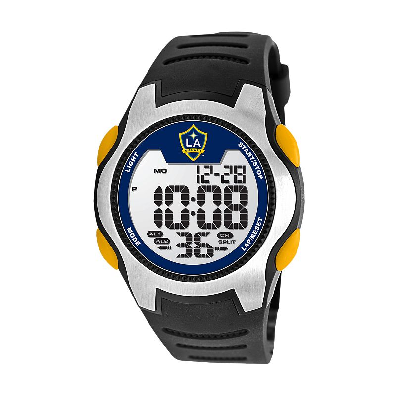 Game Time Training Camp Los Angeles Galaxy Silver Tone Digital Chronograph Watch - MLS-TRC-LA - Men