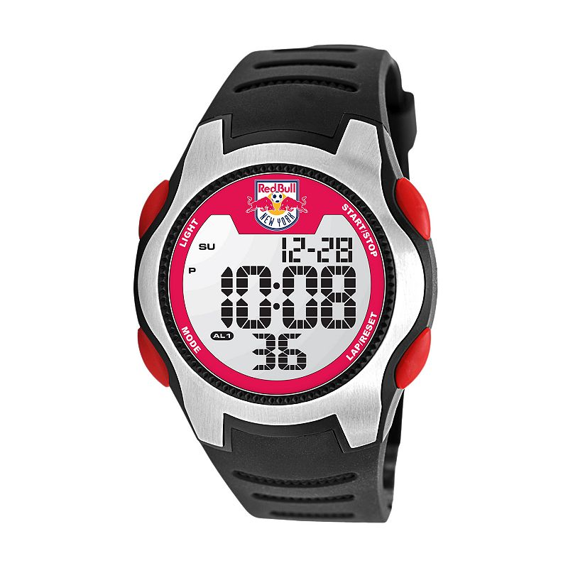 Game Time Training Camp New York Red Bulls Silver Tone Digital Chronograph Watch - MLS-TRC-NY - Men
