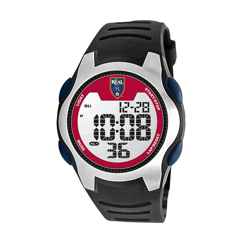 Game Time Training Camp Real Salt Lake Silver Tone Digital Chronograph Watch - MLS-TRC-SAL - Men