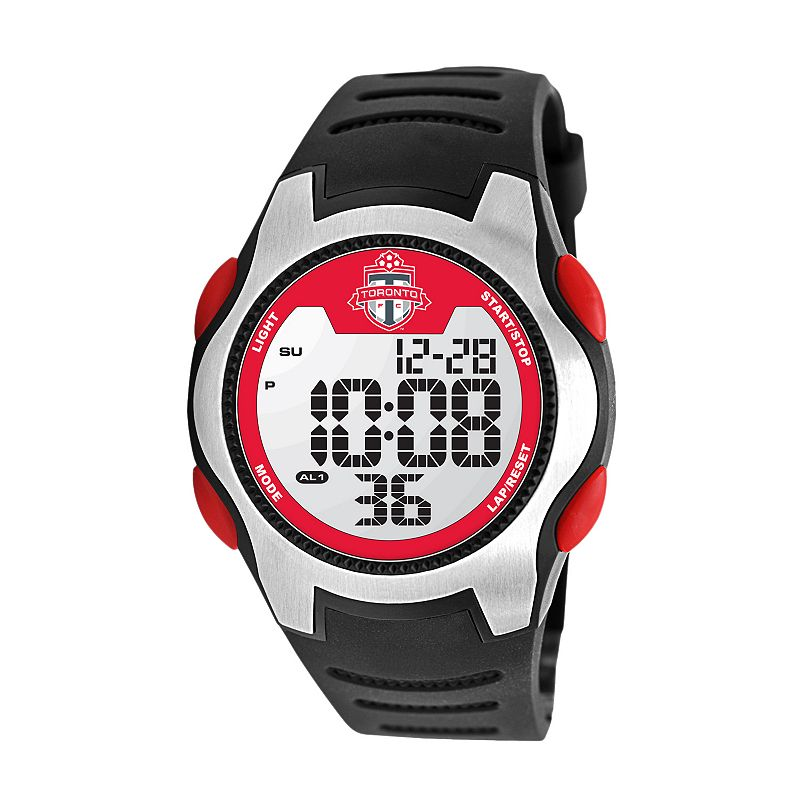 Game Time Training Camp Toronto FC Silver Tone Digital Chronograph Watch - MLS-TRC-TOR - Men