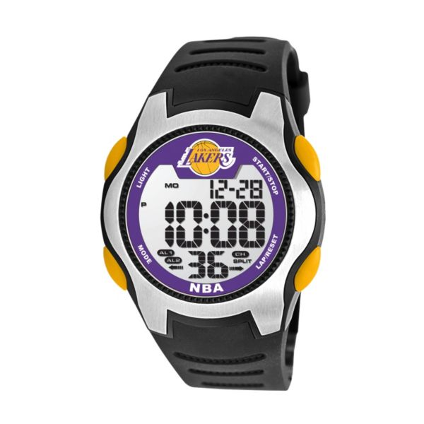 Game Time Training Camp Los Angeles Lakers Silver Tone Digital Chronograph Watch - NBA-TRC-LAL - Men