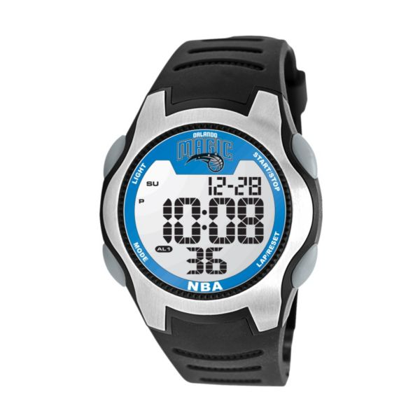 Game Time Training Camp Orlando Magic Silver Tone Digital Chronograph Watch - NBA-TRC-ORI - Men