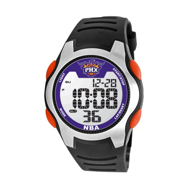 Game Time Training Camp Phoenix Suns Silver Tone Digital Chronograph Watch - NBA-TRC-PHO - Men