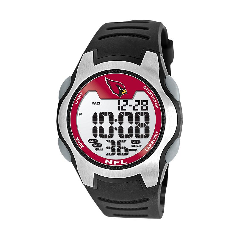 Game Time Training Camp Arizona Cardinals Silver Tone Digital Chronograph Watch - NFL-TRC-ARI - Men