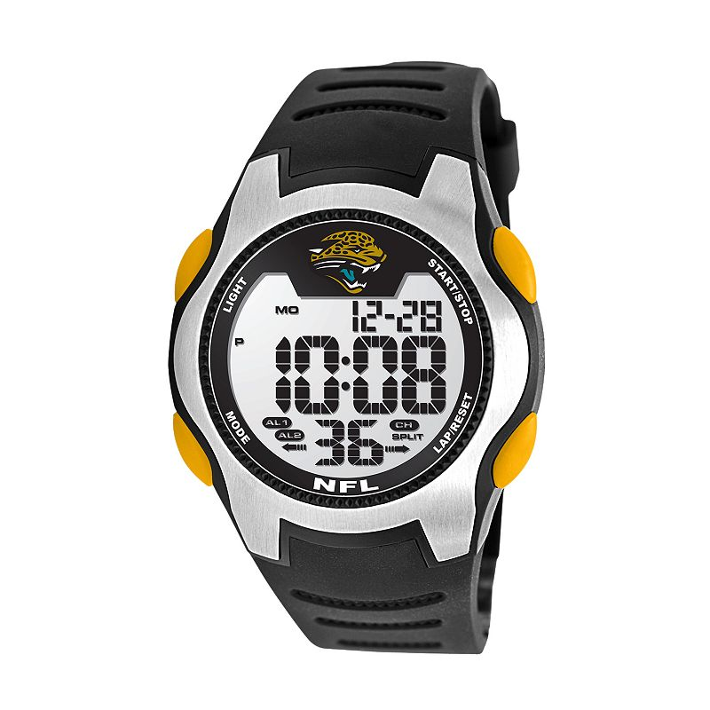 Game Time Training Camp Jacksonville Jaguars Silver Tone Digital Chronograph Watch - NFL-TRC-JAC - Men