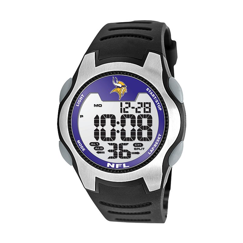 Game Time Training Camp Minnesota Vikings Silver Tone Digital Chronograph Watch - NFL-TRC-MIN - Men