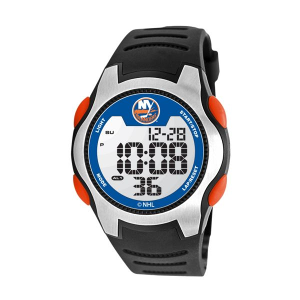 Game Time Training Camp New York Islanders Silver Tone Digital Chronograph Watch - NHL-TRC-NYI - Men