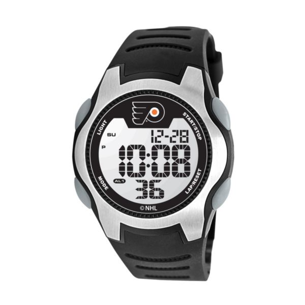 Game Time Training Camp Philadelphia Flyers Silver Tone Digital Chronograph Watch - NHL-TRC-PHI - Men