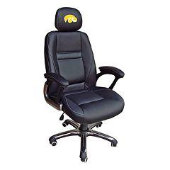 Iowa Hawkeyes Head Coach Leather Office Chair by