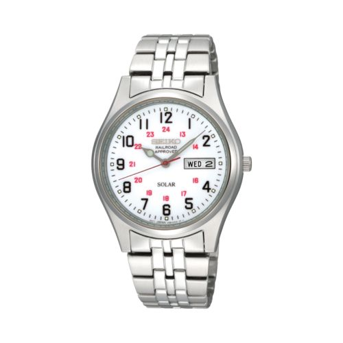 Seiko Men's Stainless Steel Solar Watch - SNE045
