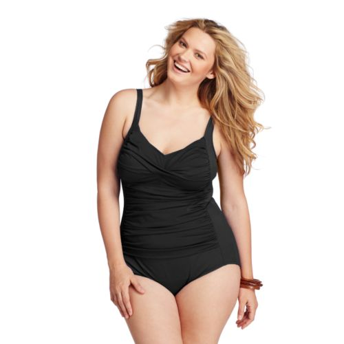 Plus Size Croft & Barrow® Fit For You Tummy Slimmer One-Piece Swimsuit