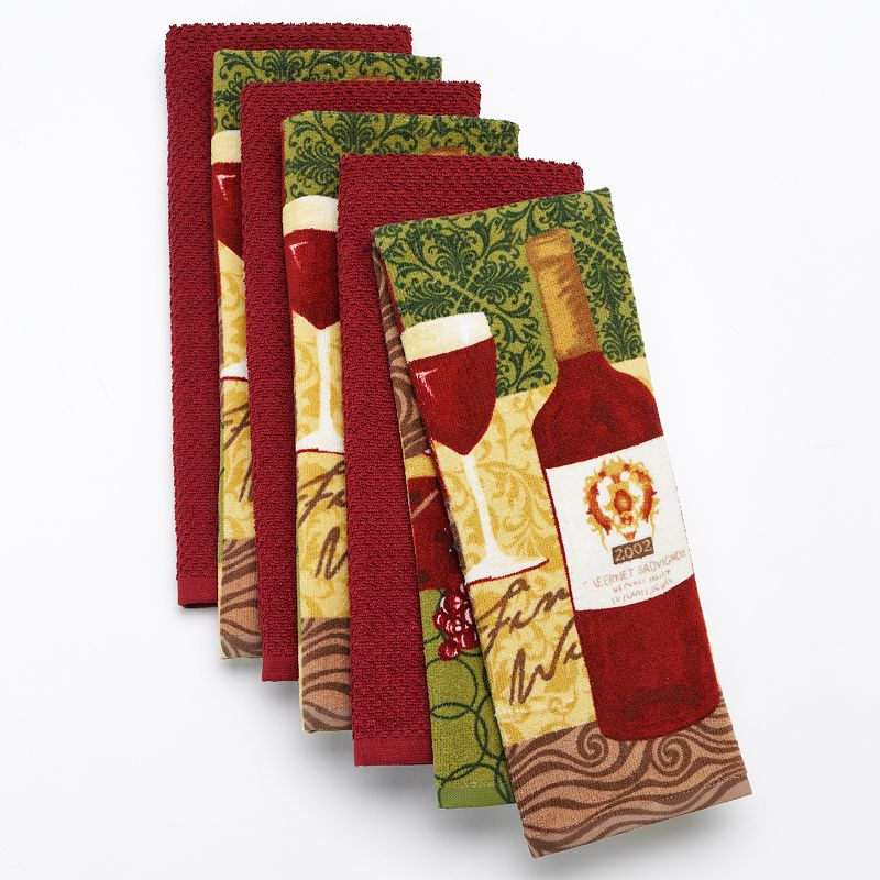 The Big One® Wine 6-pk. Kitchen Towels