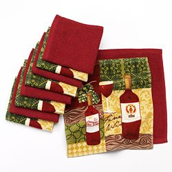 The Big One Wine 10-Pack Dishcloths - Red