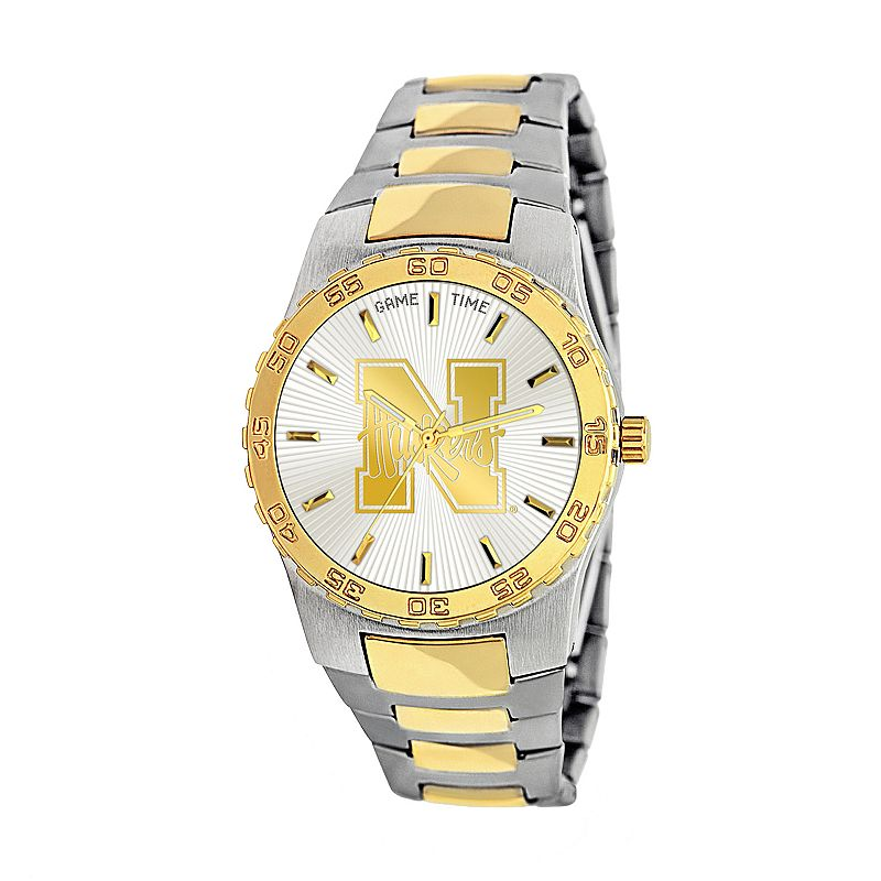 Game Time Executive Series Nebraska Cornhuskers Two Tone Stainless Steel Watch - COL-EXE-NEB - Men