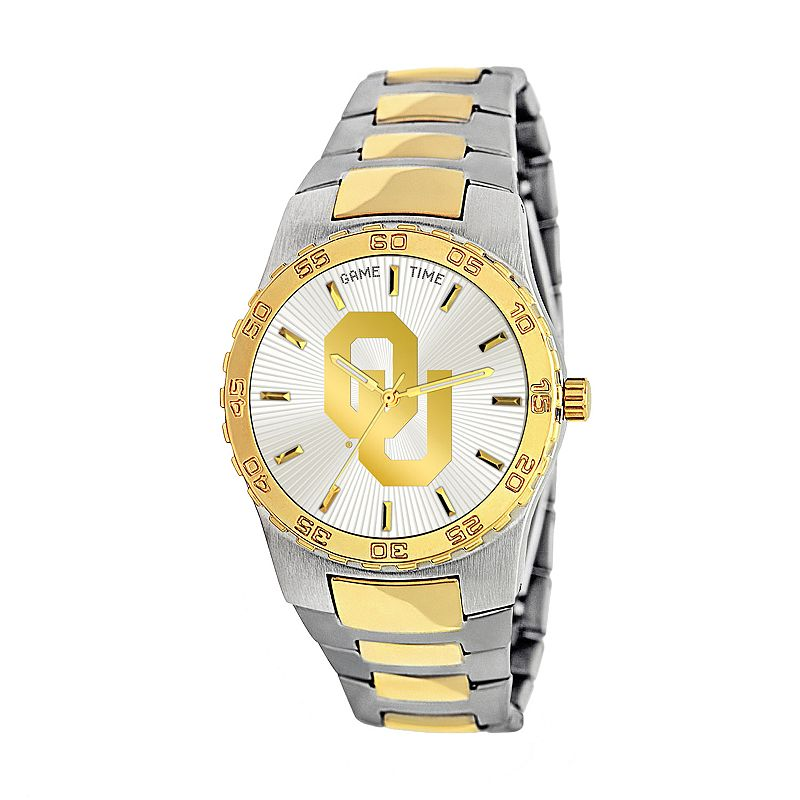 Game Time Executive Series Oklahoma Sooners Two Tone Stainless Steel Watch - COL-EXE-OK - Men