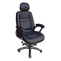Carolina Panthers Head Coach Leather Office Chair by