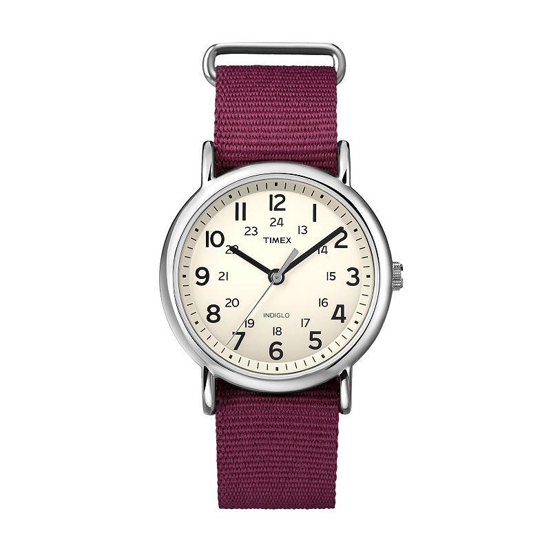 Timex Unisex Weekender Silver Tone Watch - T2P235