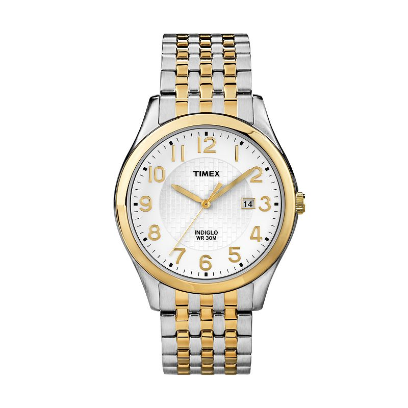 Timex Men's Two Tone Stainless Steel Expansion Watch - T2P202
