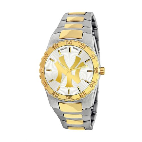 Game Time Executive Series New York Yankees Two Tone Stainless Steel Watch - MLB-EXE-NY3 - Men