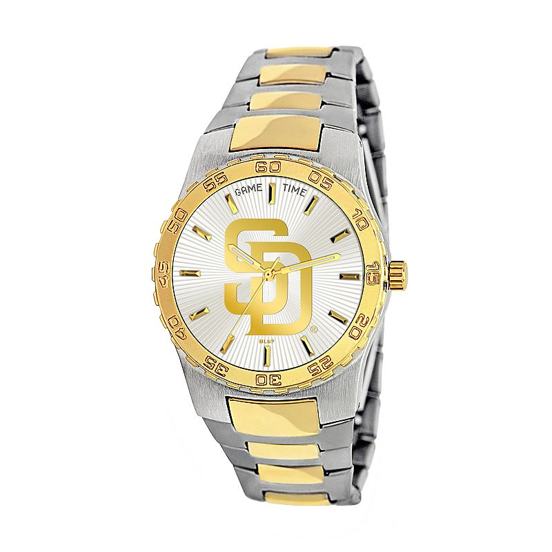 Game Time Executive Series San Diego Padres Two Tone Stainless Steel Watch - MLB-EXE-SD - Men