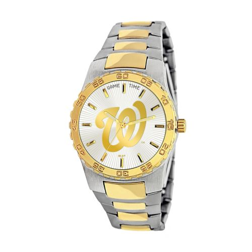 Game Time Executive Series Washington Nationals Two Tone Stainless Steel Watch - MLB-EXE-WAS - Men