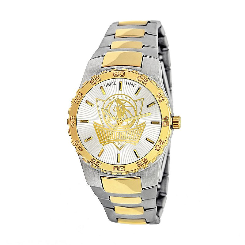 Game Time Executive Series Dallas Mavericks Two Tone Stainless Steel Watch - NBA-EXE-DAL - Men